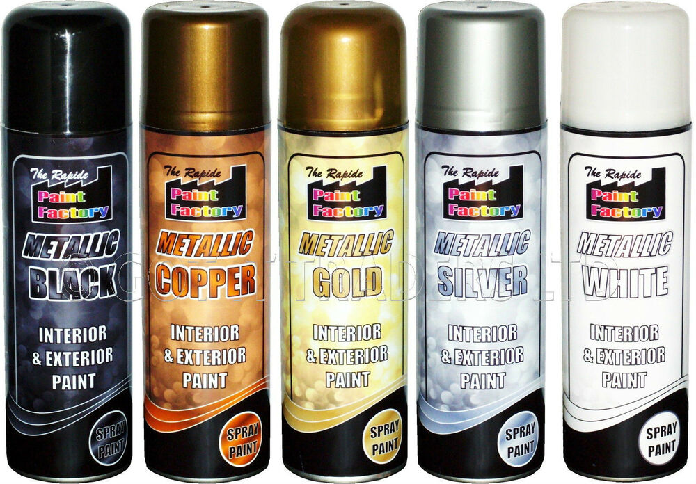 3x Gold Silver Black White Metallic Spray Paint Decorative Interior Exterior Ebay