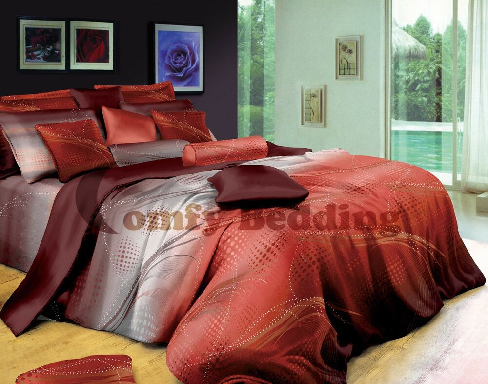 Oversized King Sunset 100 Luxury Cotton Duvet Cover And