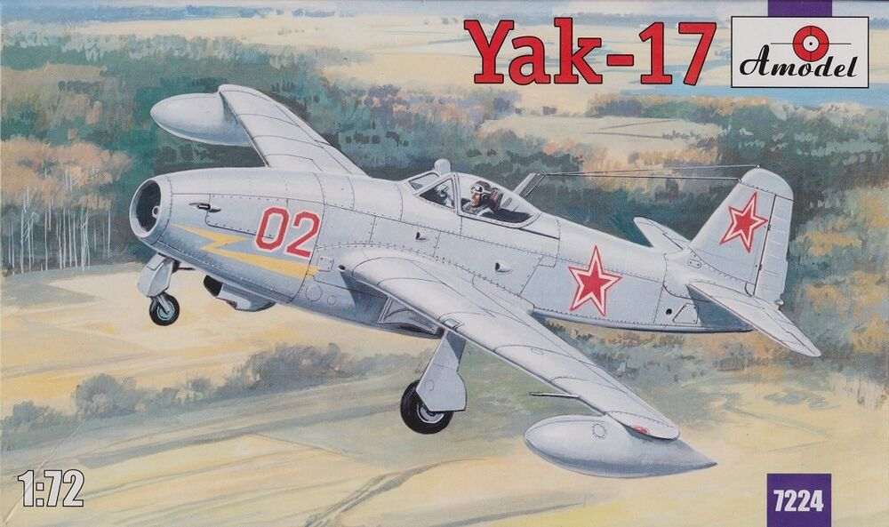 yak 17 soviet jet fighter yakovlev design bureau 1 72 amodel 7224 ebay. Black Bedroom Furniture Sets. Home Design Ideas