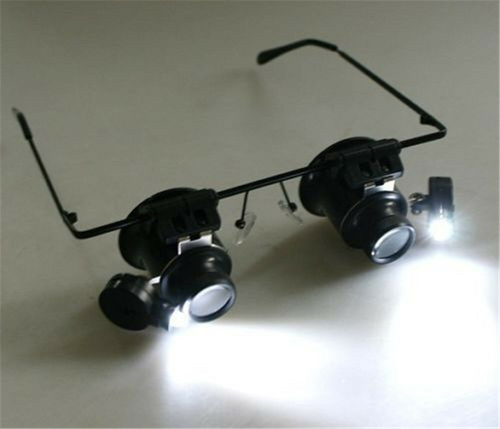 20x magnifying eye magnifier glasses loupe lens jeweler. Black Bedroom Furniture Sets. Home Design Ideas
