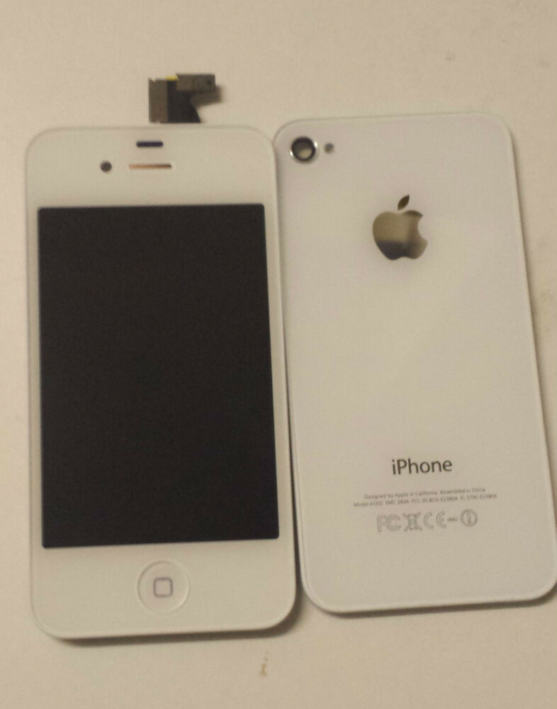 how to change iphone 4 screen replace iphone 4 white original display lcd screen 18620