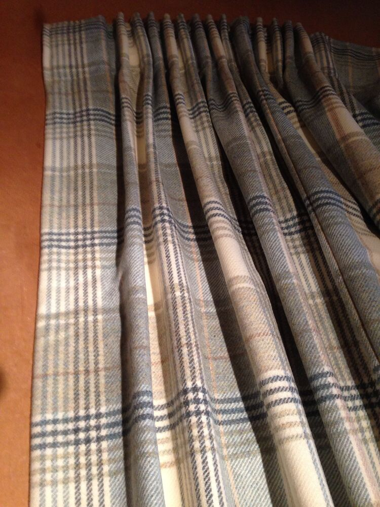 Abraham Moon Kincraig Tartan Lined Curtains Made To Measure Hand Sewn ...
