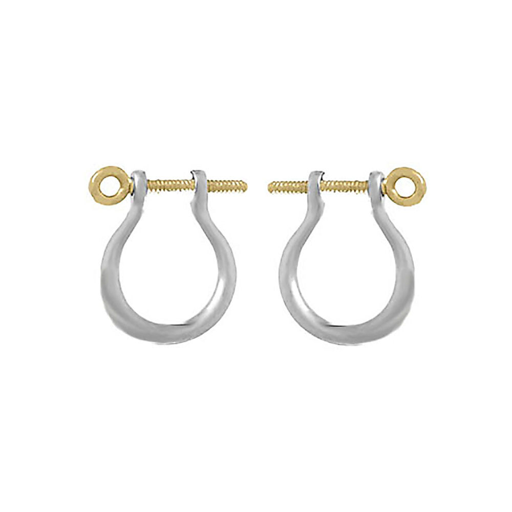 shackle earrings 925 sterling silver mariners shackle link earring 4388