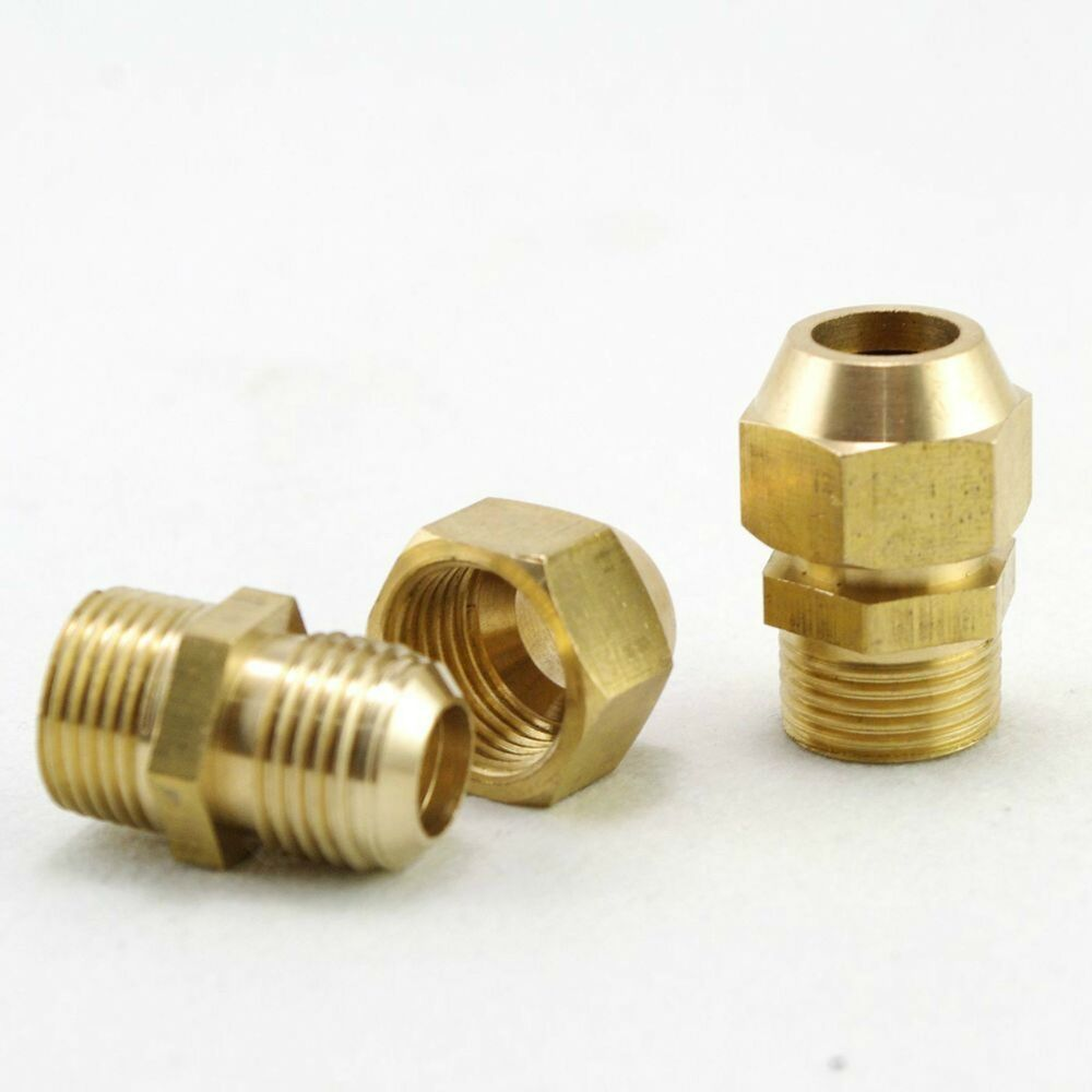 Mm flare tube quot male thread pipe brass adapter with