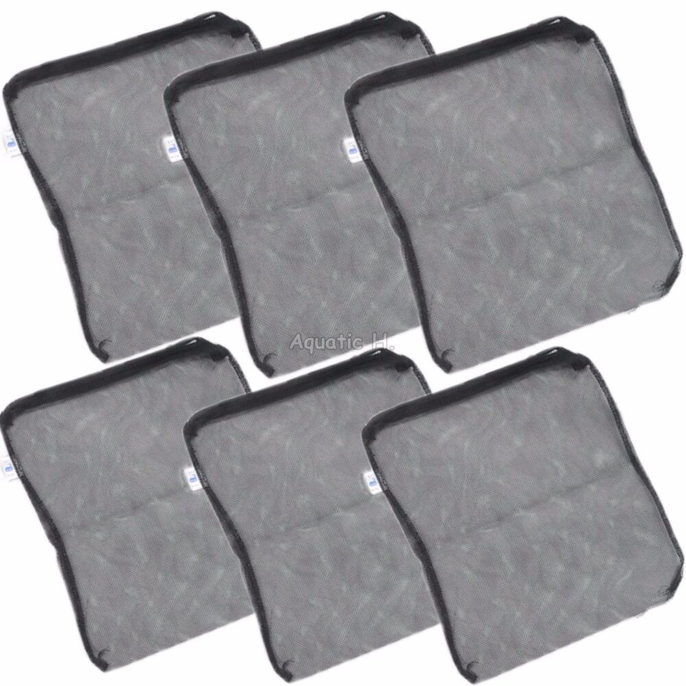 6 pcs filter media mesh bags 12 x 10 5 zipper reusable for Fish pond filter mesh