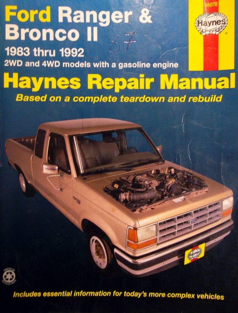 28+ [ 1992 Ford Ranger Owners Manual 12943 ] | 1992 Ford ...