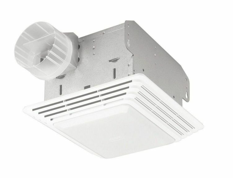 quiet bathroom exhaust fans with light 50 cfm broan ventilation fan light combo bathroom 25698