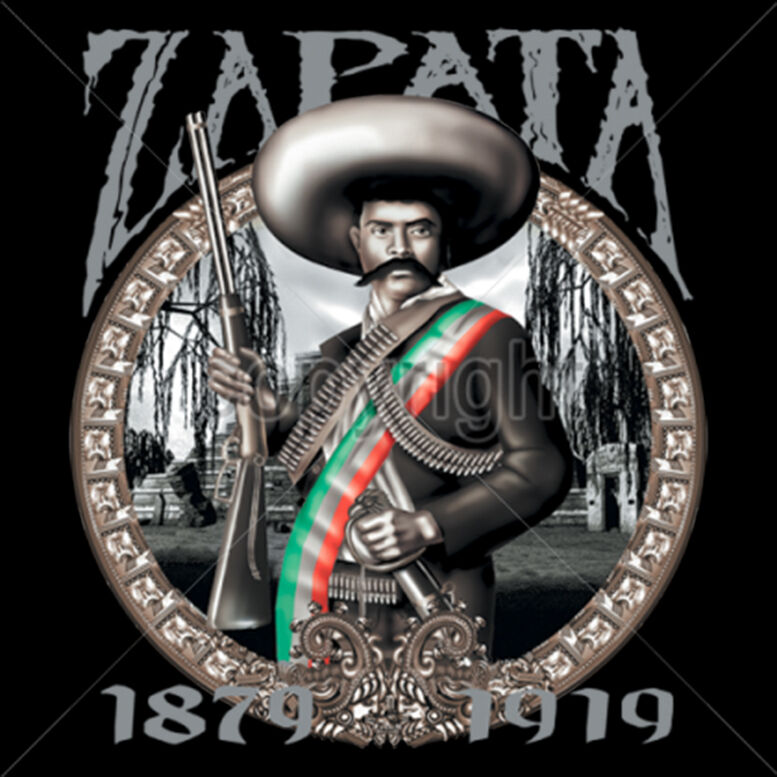 Zapata mexican revolution mexico pop culture hero cool t shirt tee