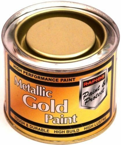 1 x 180ml metallic gold exterior interior paint tough for How to make metallic paint