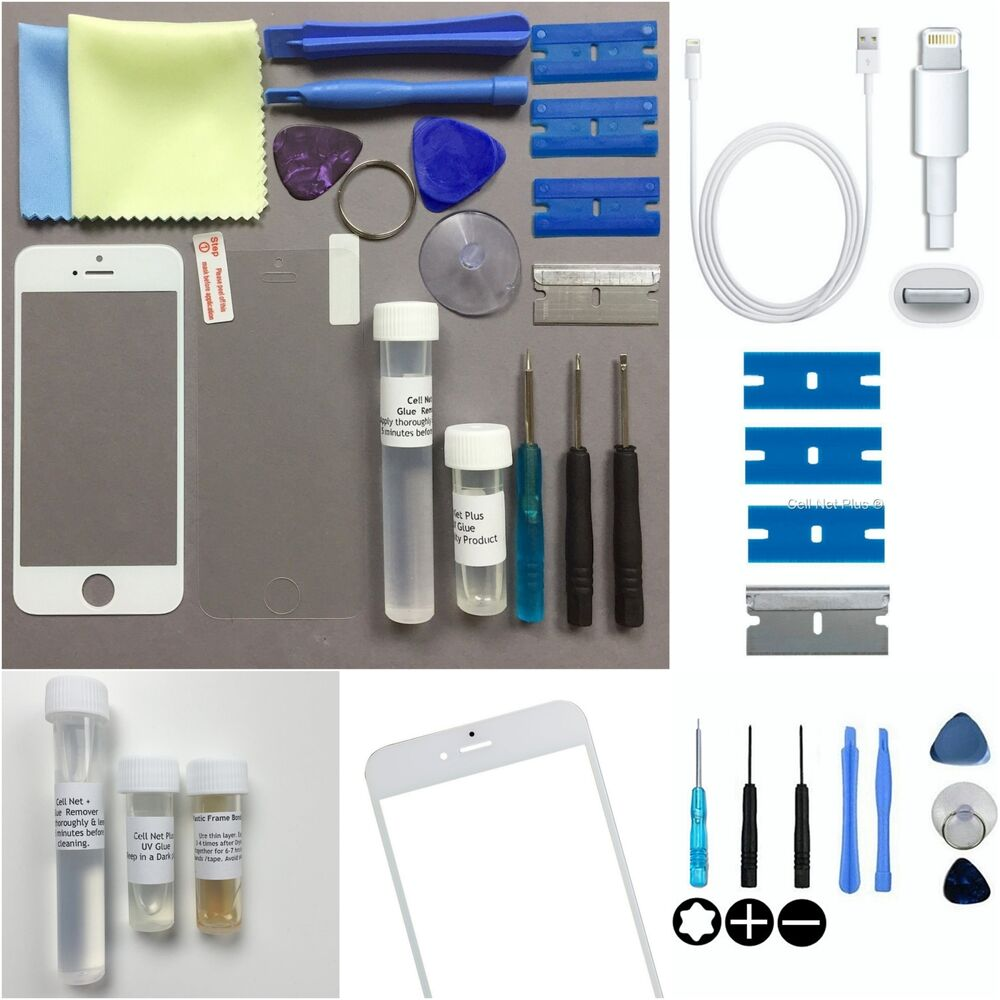iphone 5c repair white genuine front glass screen replacement repair kit 2933