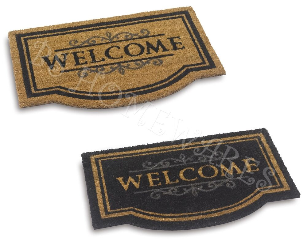 Large Door Mat Welcome Coir Floor Entrance Indoor Outdoor