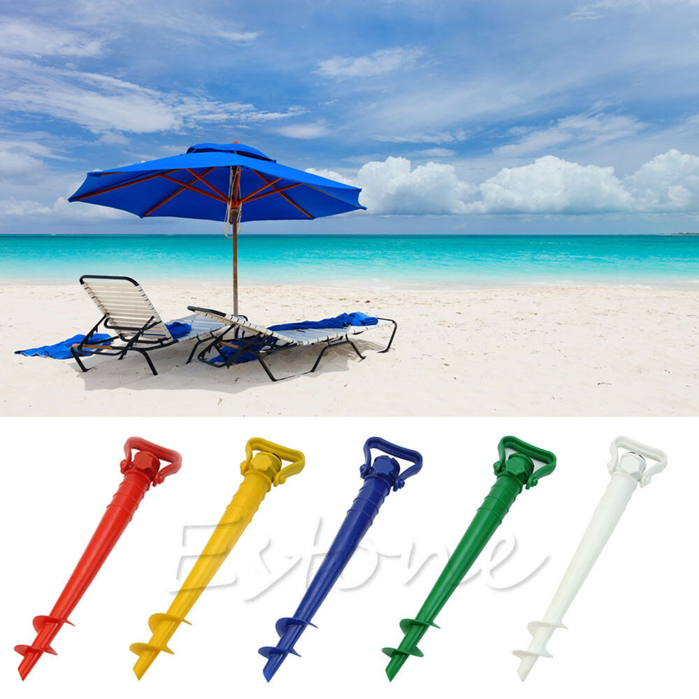 sun beach garden patio umbrella holder parasol ground anchor spike fishing stand ebay. Black Bedroom Furniture Sets. Home Design Ideas