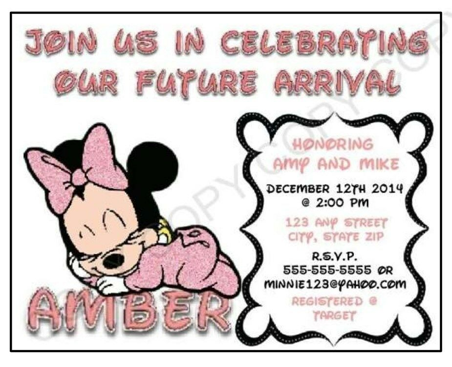 minnie mouse baby shower invitation personalize printables you print