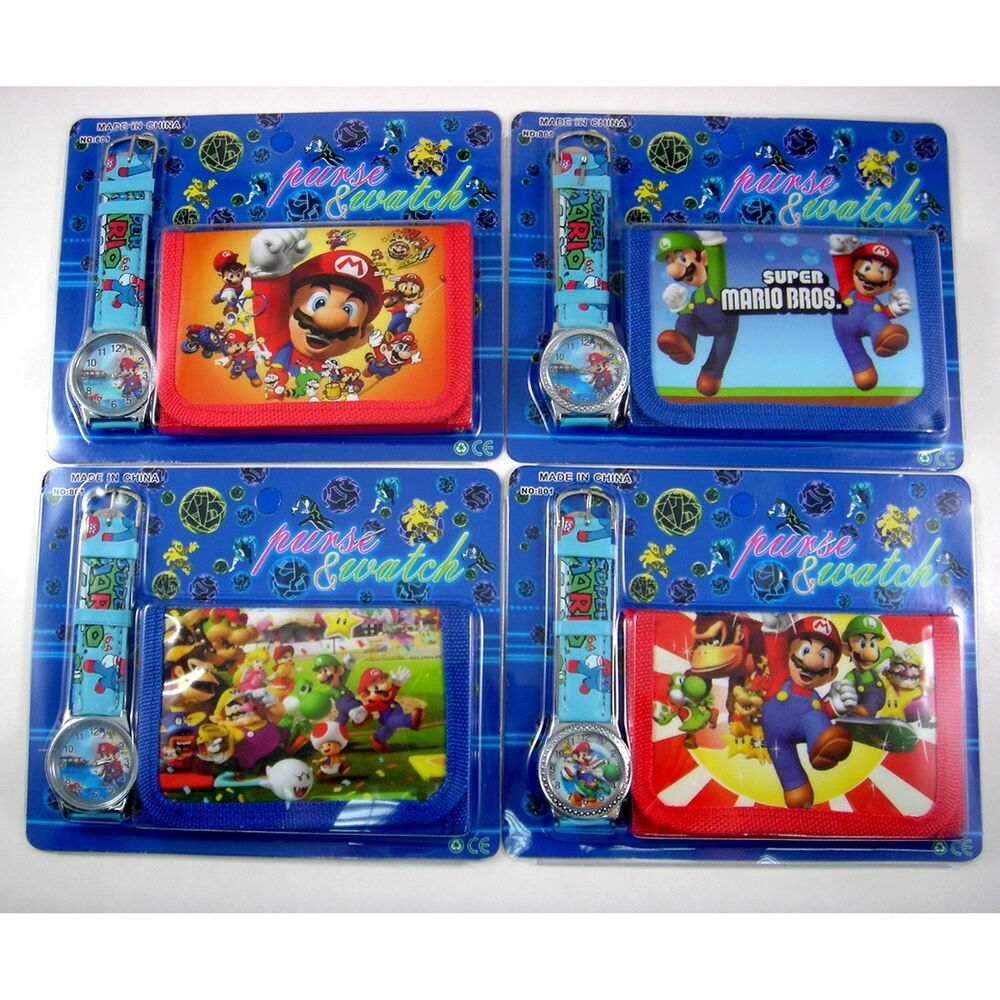 Super Mario Brothers Children's Watch Wallet For Kids Boys ...