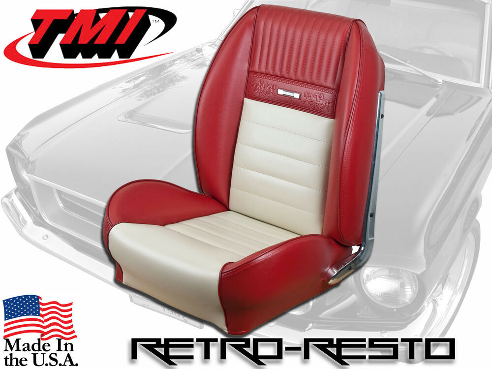 1964 1966 deluxe pony mustang sport seat 2 upholstery covers front set tmi ebay for Davis seat covers automotive interiors