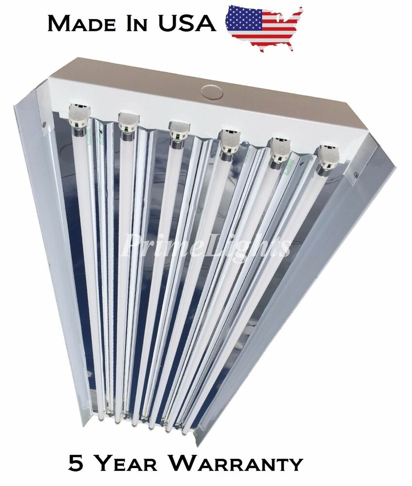 T8 High Bay Fluorescent Light Fixture: 6 LAMP T5HO High Bay Fluorescent Light