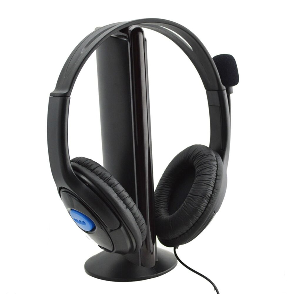 DELUXE HEADSET HEADPHONE WITH MICROPHONE +VOLUME CONTROL FOR PS4 CONTROLLER & PC   eBay