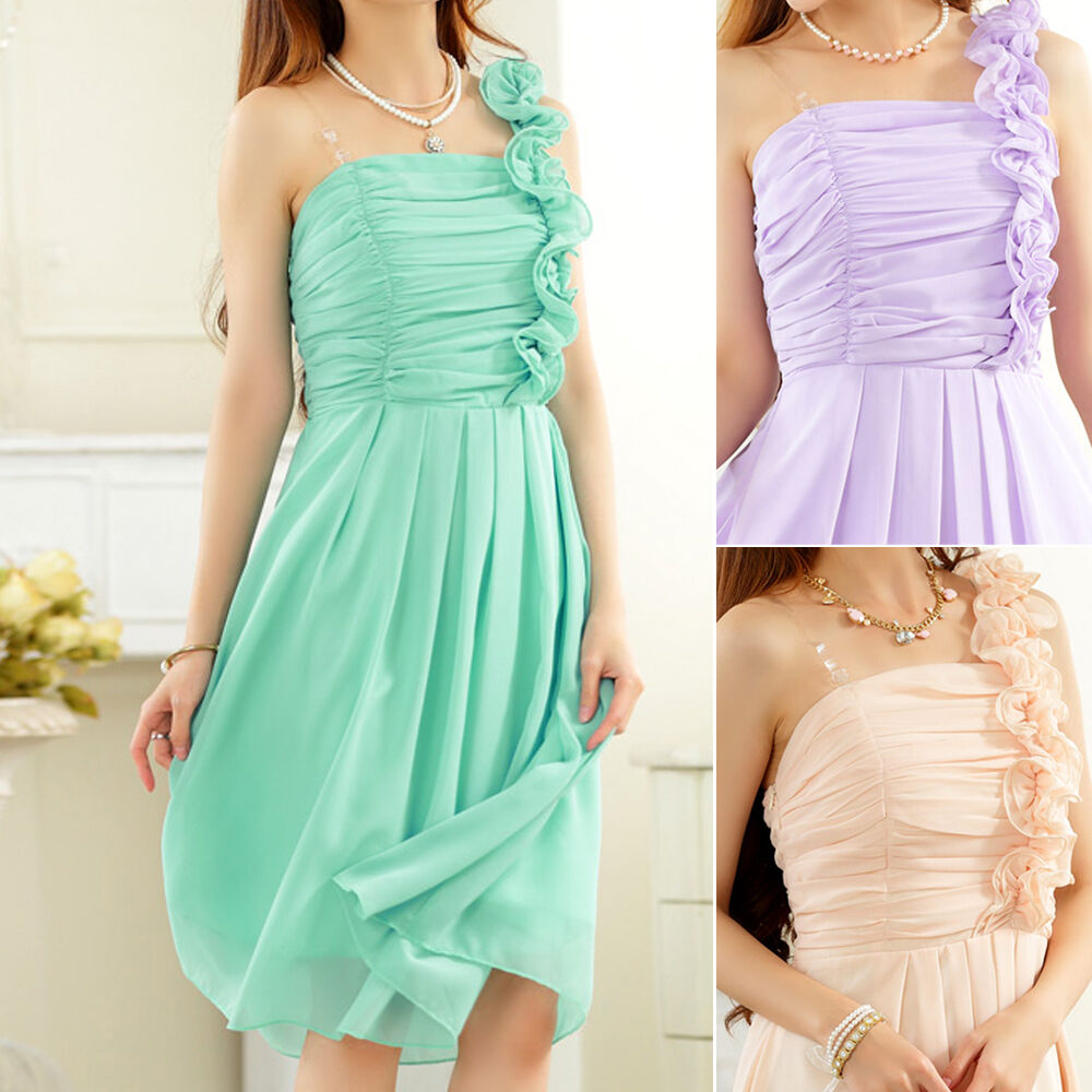 Womens ladies wedding party evening cocktail formal dress for Wedding dress sizes compared to normal sizes