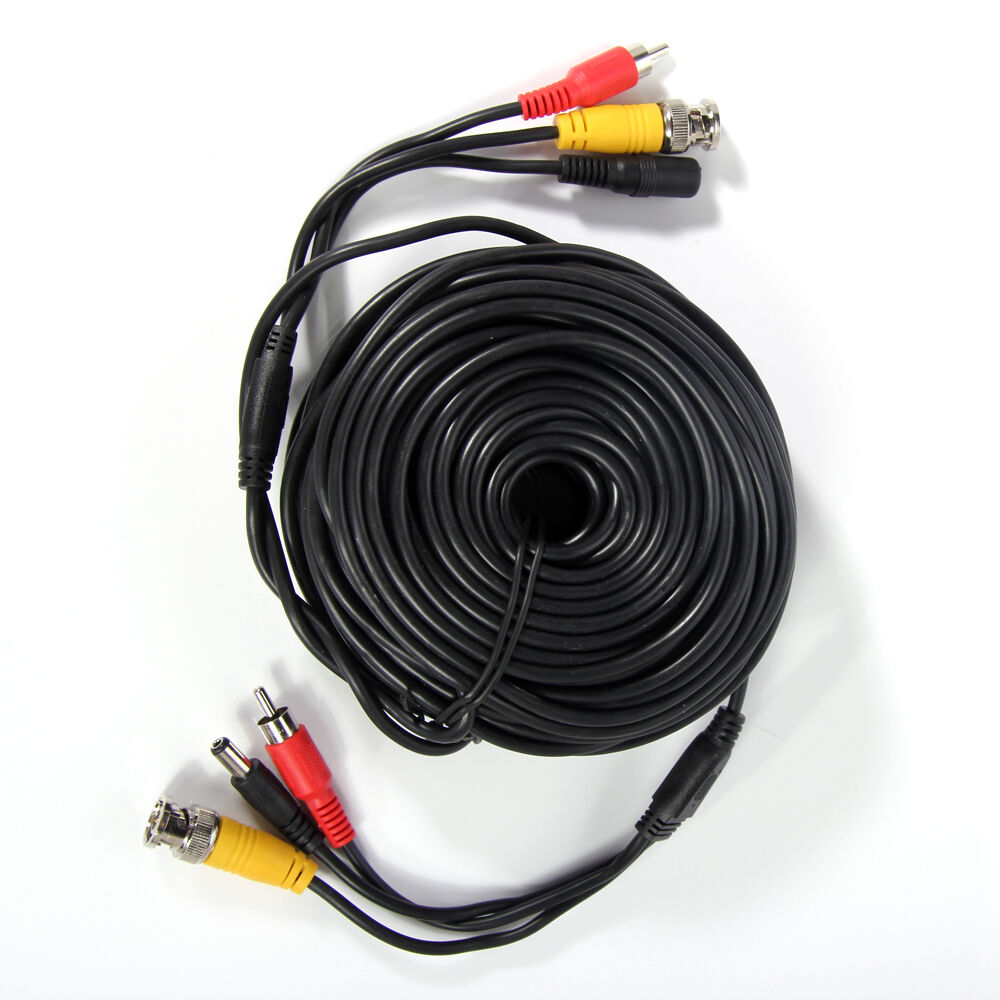 New 50ft Cctv Camera Video Audio Power Cable Rca Bnc