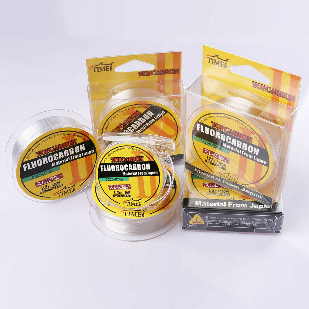 Fluorocarbon fishing line 50m 100m 150m 4 4lb 35 2lb color for Fluorocarbon fishing line