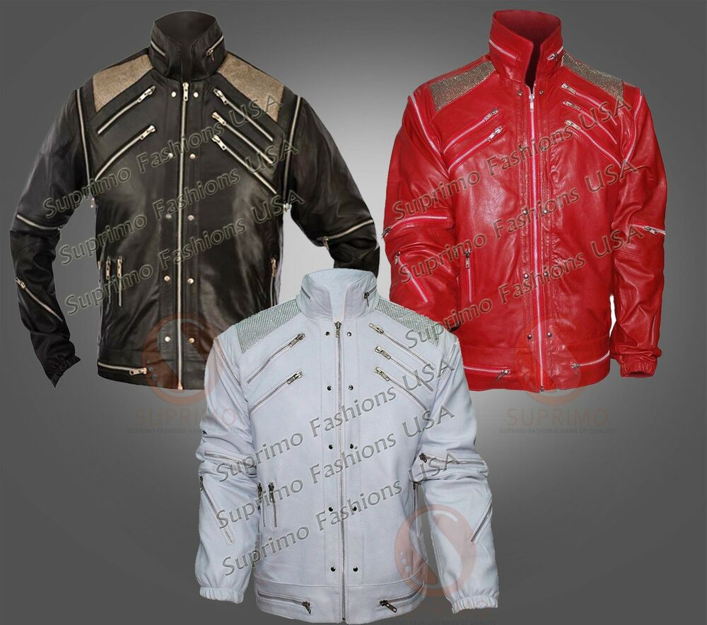 Michael jackson beat it colors men s stylish leather