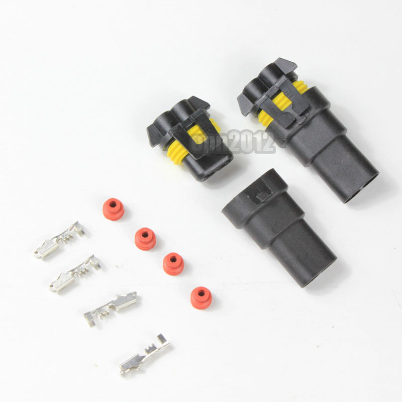 4x 9005 9006 female male connectors hid plug socket