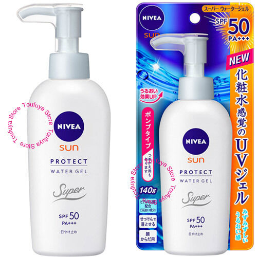 Kao NIVEA Sunscreen Sun Protect Water Gel Pump For Face Body SPF50 PA+++ 140g  | eBay