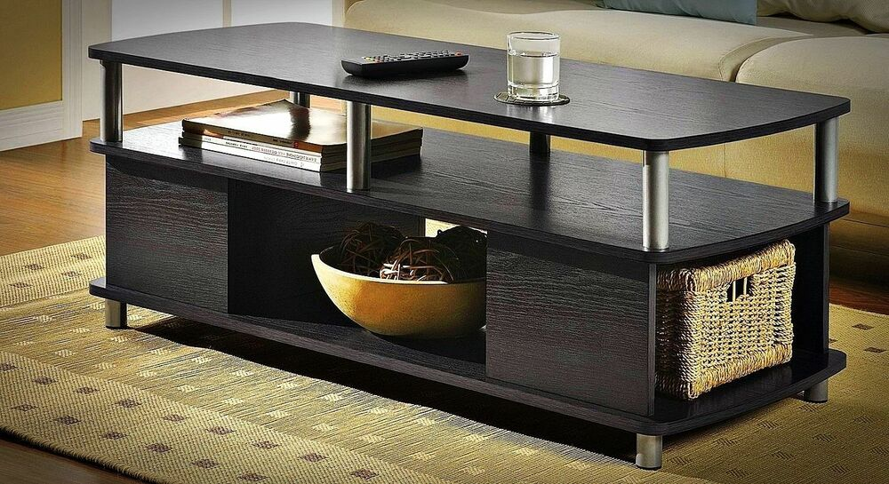 table storage modern black end tables living room furniture ebay