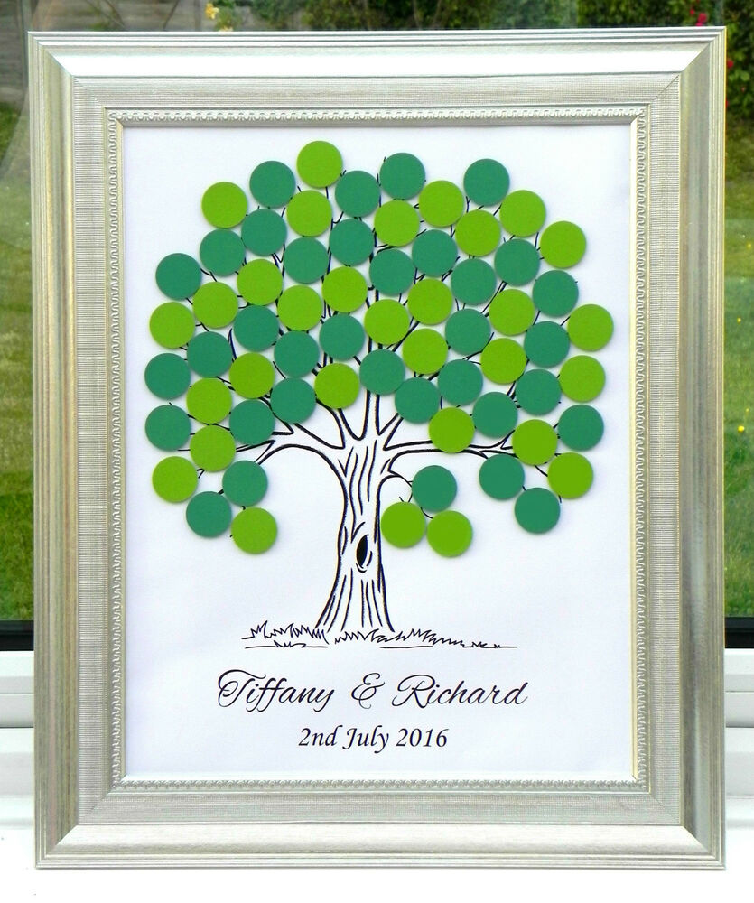 Alternative Wedding Gifts Uk : ... Guest Book Alternative Fingerprint Wedding Christening Gift D eBay