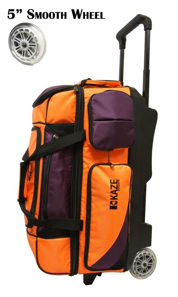Kaze Sports Deluxe 3 Ball Roller Bowling Bag With Smooth