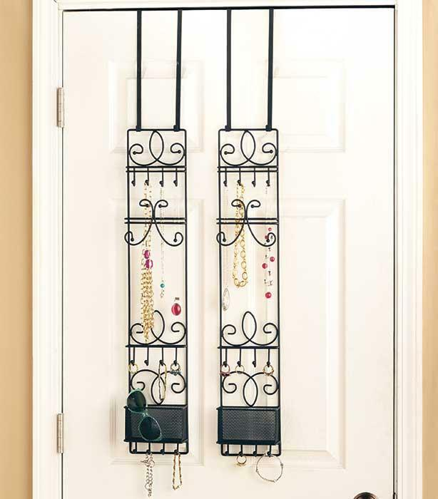 New Over The Door Metal Multi Purpose Jewelry Valet