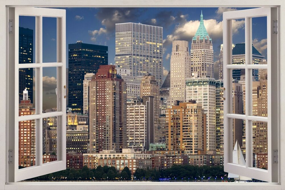 nyc 3d wall sticker new york city window decal mural wallpaper vinyl usa w17 ebay