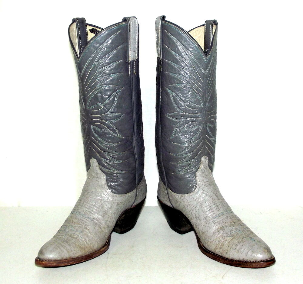 vintage two tone grey womens cowboy boots size 5 5 c