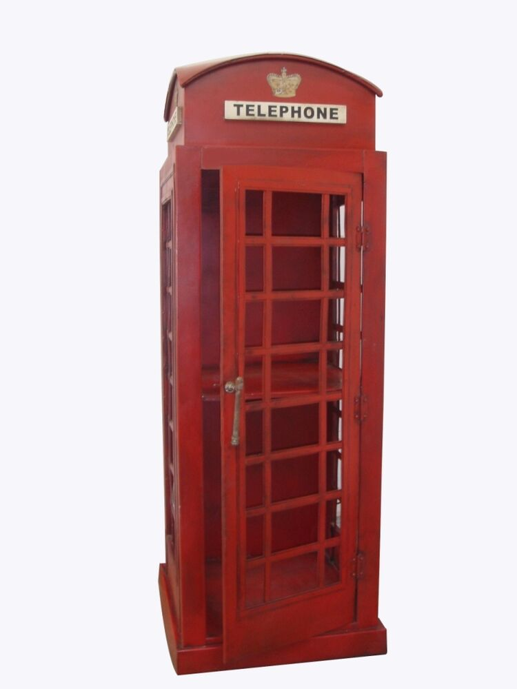 telefonzelle englische h he125 xbreite55x55cm london 1920 dekoration u schrank ebay. Black Bedroom Furniture Sets. Home Design Ideas