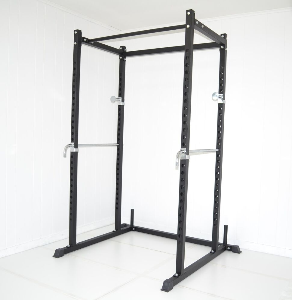 power squat weight rack bench cage deadlift racks new ebay. Black Bedroom Furniture Sets. Home Design Ideas