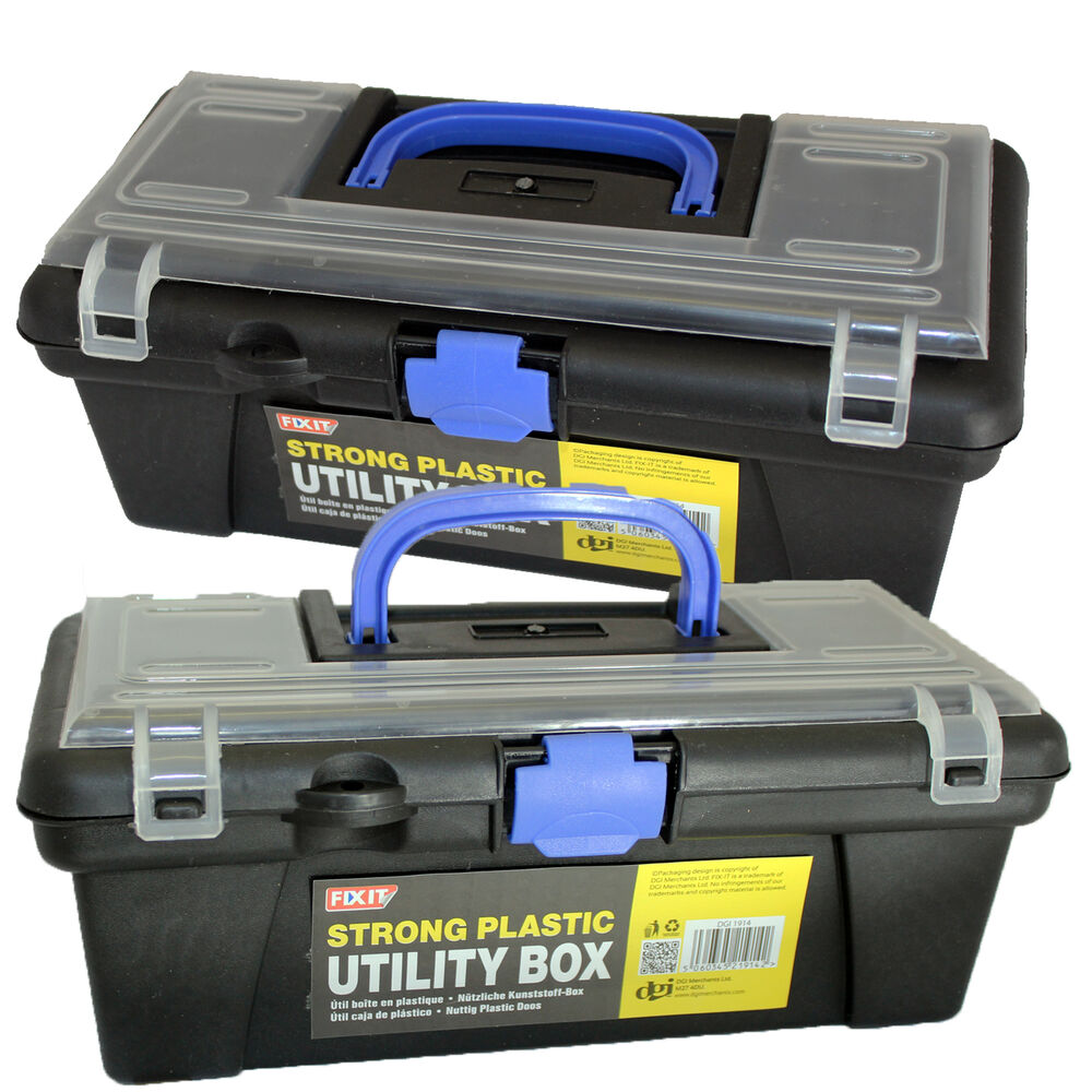Strong plastic tackle bait utility box fishing tools for Quality craft tool box