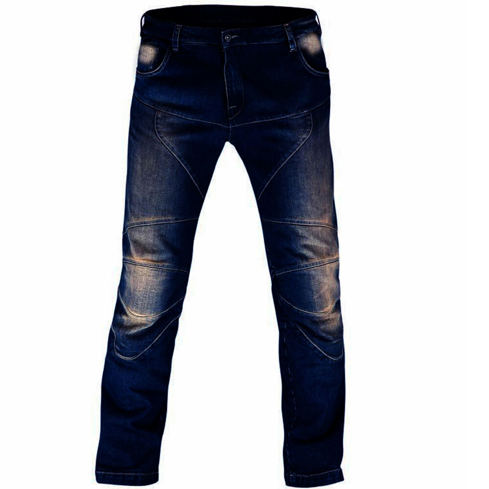 Men's Motorbike Motorcycle Trousers 14oz Jeans Denim With ...