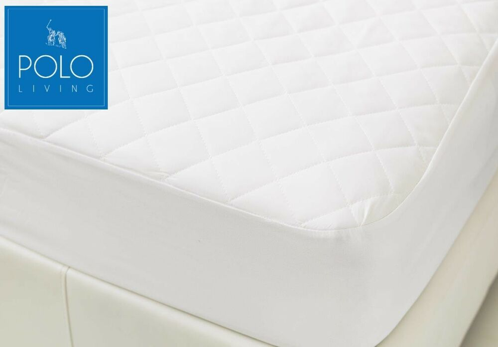 POLO QUILTED MATTRESS PROTECTOR SINGLE KING SINGLE