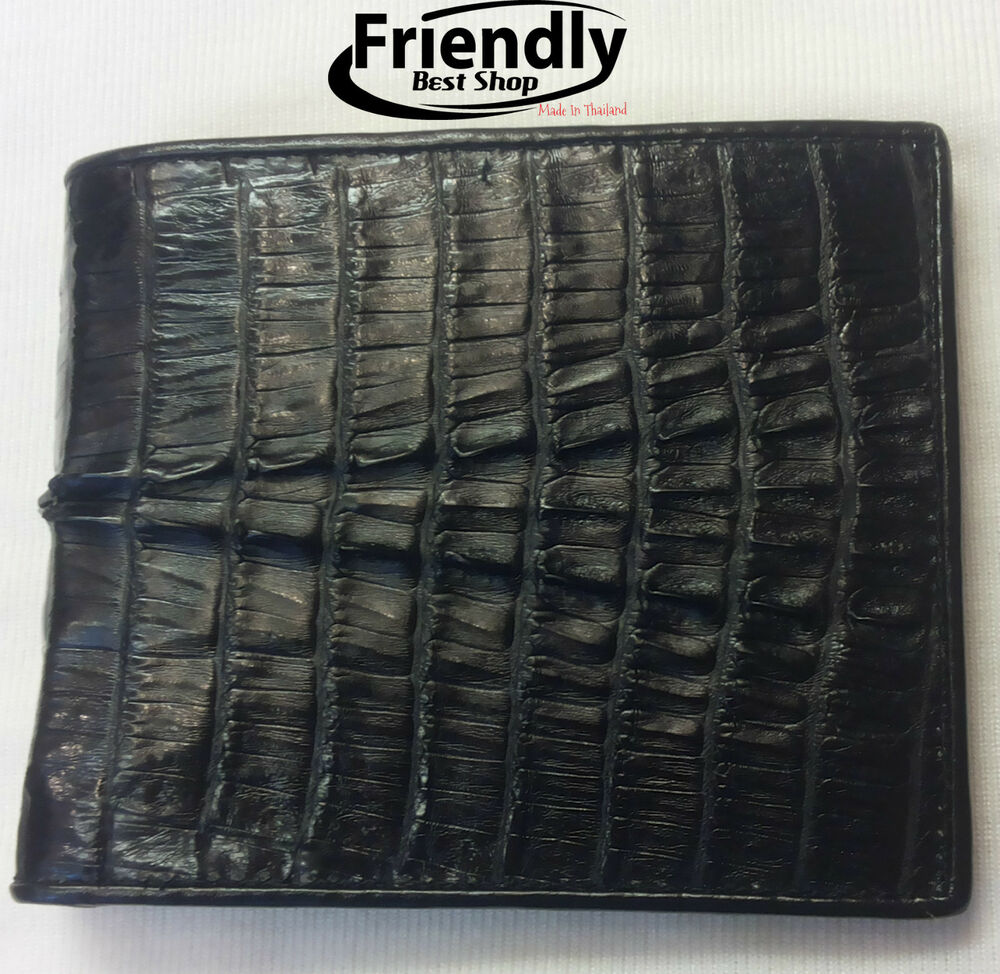 Genuine Crocodile Wallets Alligator Skin Leather Bifold