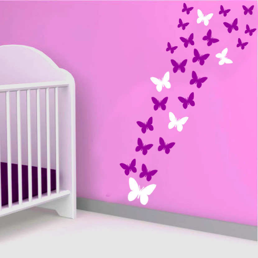 64 butterfly vinyl wall stickers wall decals bedroom butterfly wall decals nursery auall385 26 00 wall