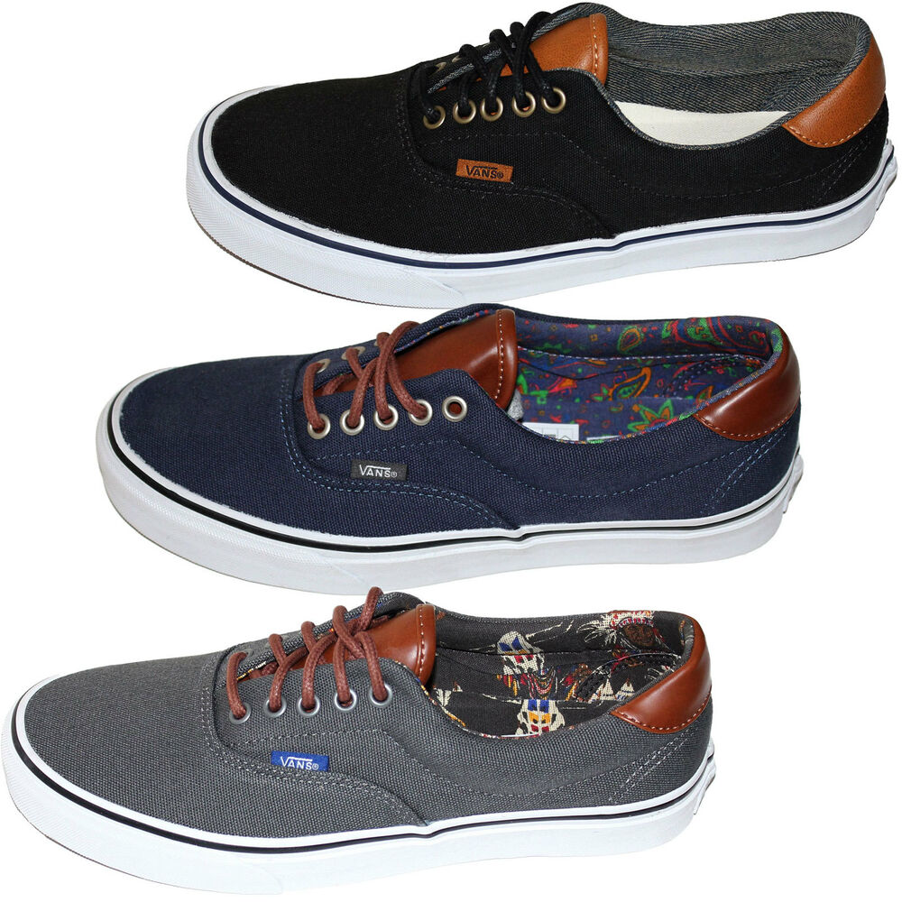 Vans Era 59 (C&L) (MLX) Mens Canvas Leather Lace Up Trainers - Brand New Shoes | eBay