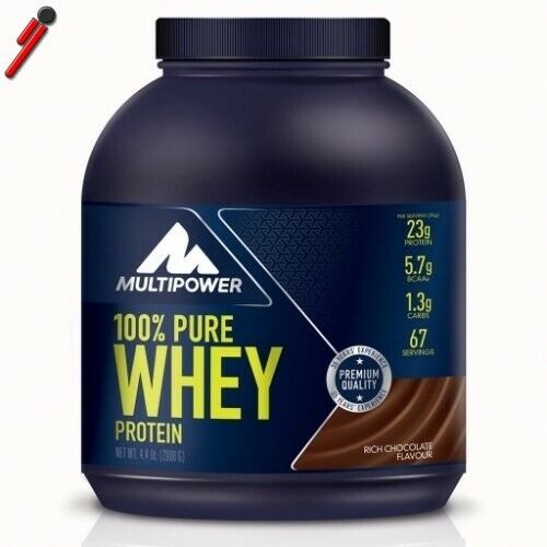 Multipower 100% Pure Whey Proteine 2000 g 2 Kg Siero Latte e isolate
