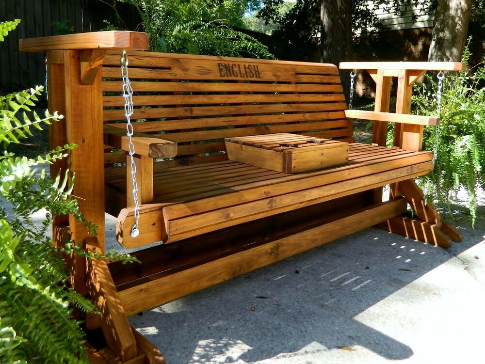 Wooden Glider Outdoor Furniture