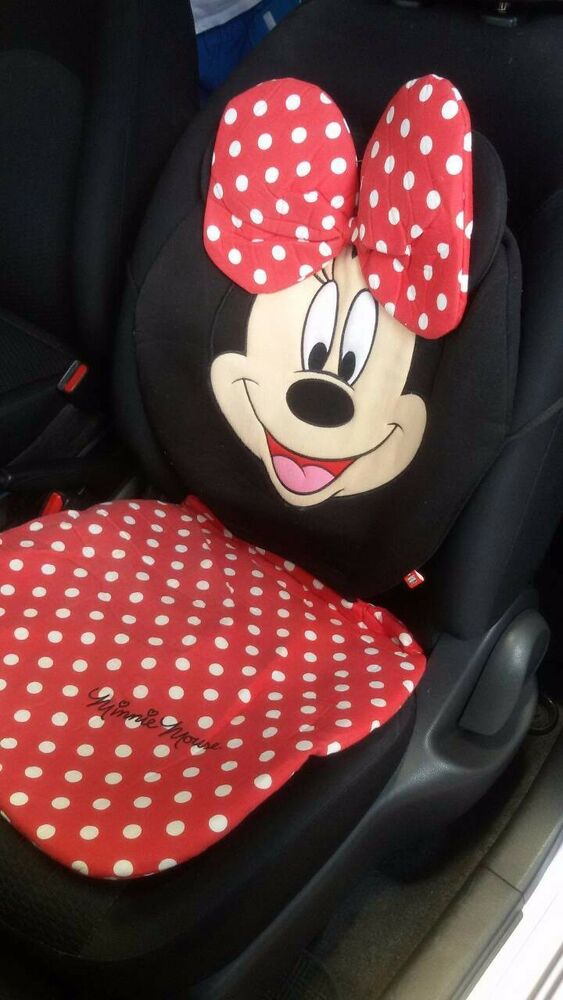 Minnie Mouse Red Anf Black Car Seat Covers