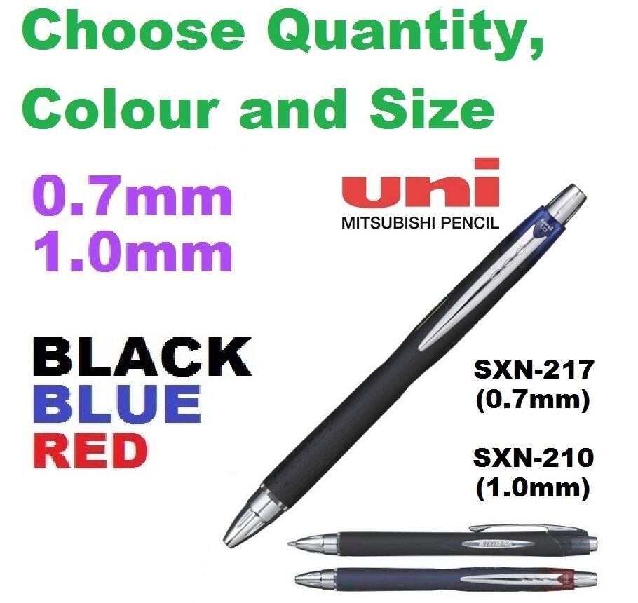 jetstream deluxe choose how many colors pen uni ball 0 7 1 0 mm sxn 210 217 red ebay. Black Bedroom Furniture Sets. Home Design Ideas