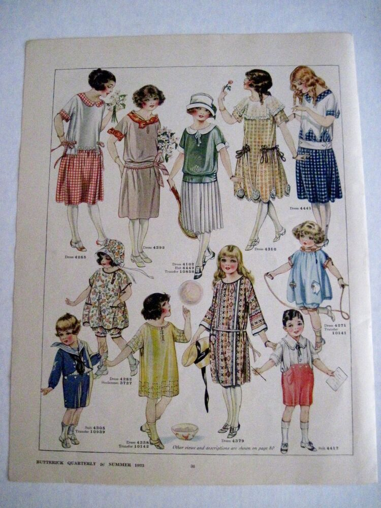 Vintage 1923 Butterick Quarterly Advertising Childrens ...