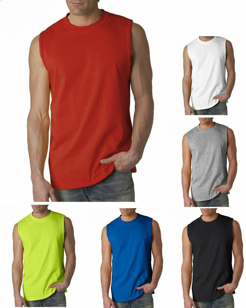 New men 39 s tank top sleeveless t shirts plain muscle gym for Best fitness t shirts