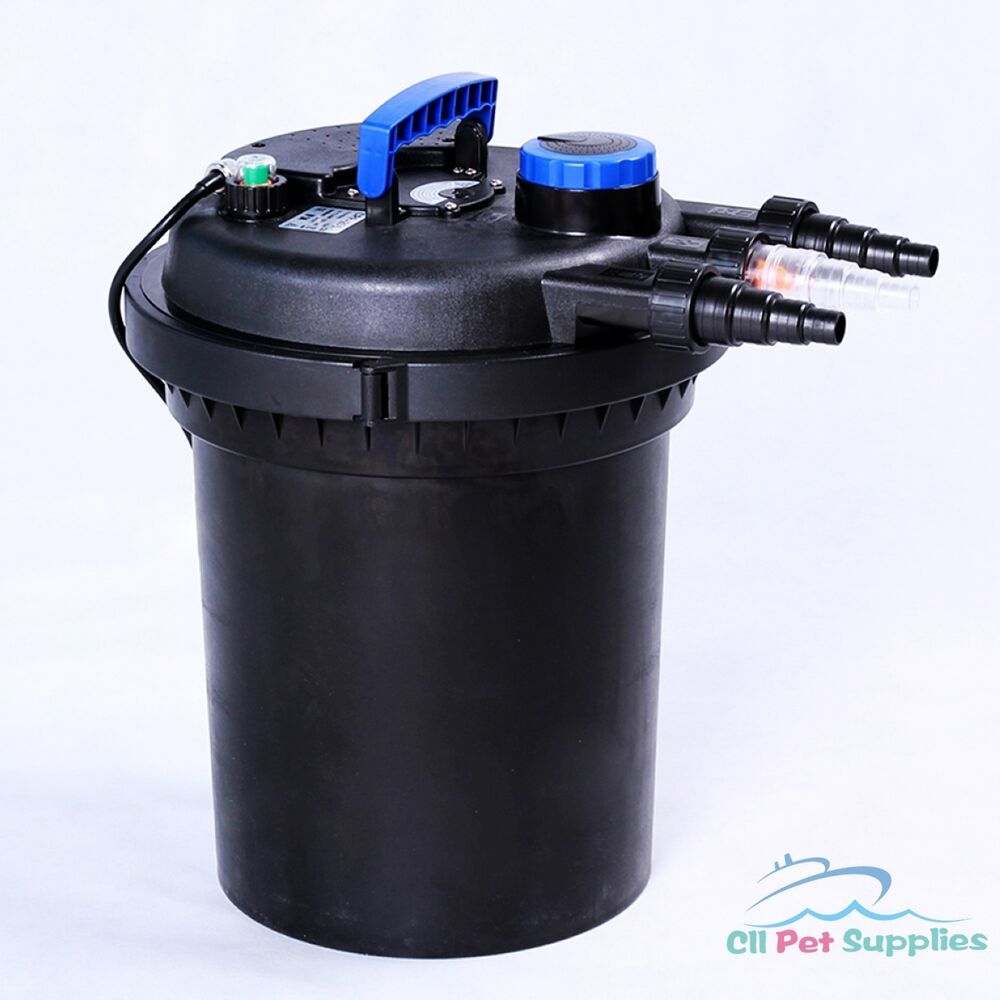 3000 gal pressure pond filter w 13w uv sterilizer koi for Pond filter cleaning maintenance