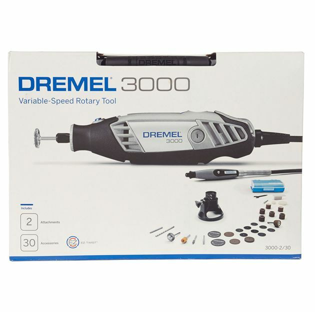 dremel 3000 2 30 variable speed rotary tool kit w storage. Black Bedroom Furniture Sets. Home Design Ideas