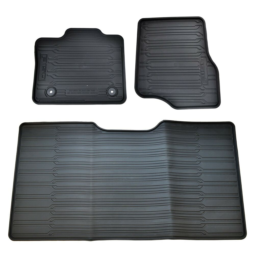 Oem New 15 17 Ford F 150 All Weather Crew Cab Floor Mat